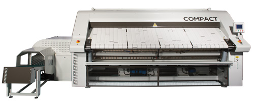 heated roll compact ironer