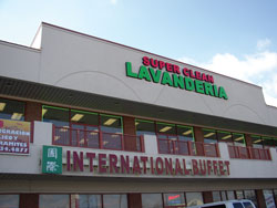 exterior image of second floor laundromat